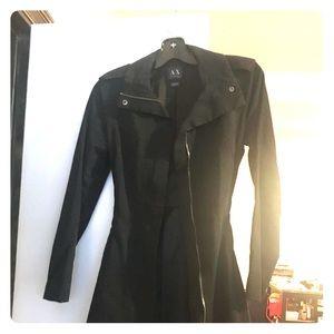 Armani Exchange Black trench coat